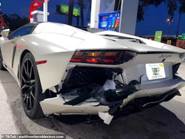 TikTok Car Accident Lamborghini